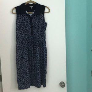 Navy Pattern Dress